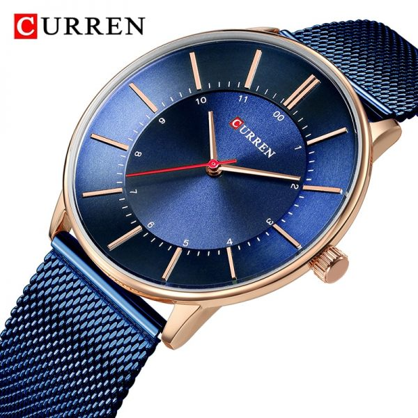 Relogio Masculino CURREN Luxury Blue Watch Men Fashion Sport Quartz Clock Mens Watches Full Steel Business Waterproof Watch Male