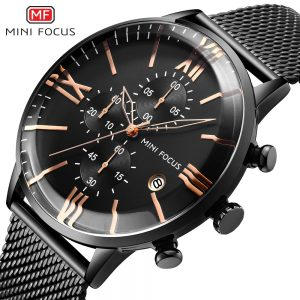 Relogio Masculino MINIFOCUS Sport Quartz Watches Mens Analog Date Waterproof Fashion Stainless Steel Military Business Watch