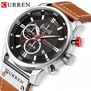Reloj CURREN 8291 Watch Men Chronograph Mens Sport Watches Leather Military Quartz Watch Waterproof Male Clock Relogio Masculino