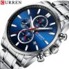 Top Brand CURREN Luxury Menes Watches Waterproof Full Steel Quartz Sport Watch Men Chronograph Male Wristwatch Relogio Masculino