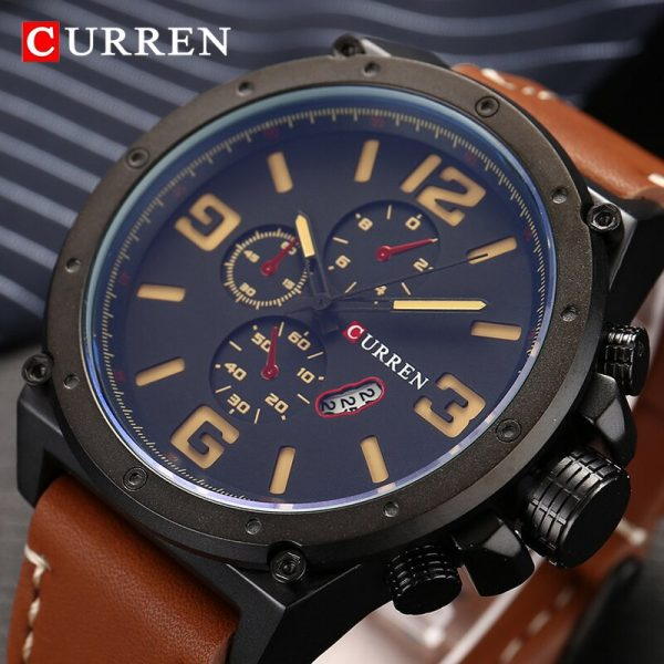 Top Luxury Brand CURREN Watches Men Fashion Sports Quartz Watch Mens Chronograph Casual Waterproof Clock Male Relogio Masculino