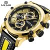 Top Luxury Brand MEGIR Golden Watch Men Sports Quartz Wrist Watch Men's Chronograph Waterproof Military Mens Watches Male Clock