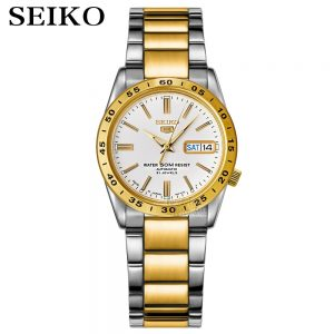SEIKO Shield No.5 Automatic Mechanical Men 's Watch Gold Strap White Strap SNKE04K1 SNKE03J1 SNKE04J1 SNKE03K1