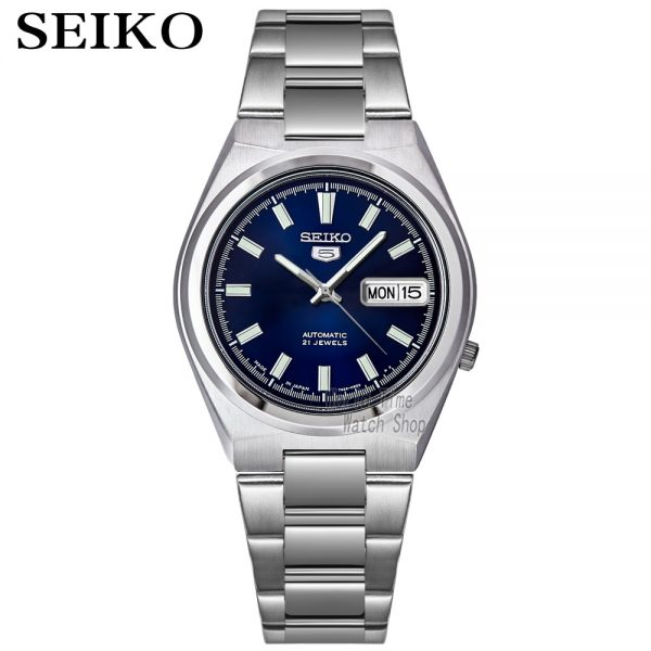 Seiko 5 Automatic Blue Dial Stainless Steel Men's Watch made in Japan SNKC51J1 SNKC55J1 SNKC57J1