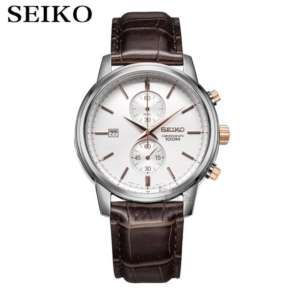 seiko watch men top Luxury Brand Sport Wrist Watch solar watch quartz watches wristwatch mens Chronograph Relogio Masculino SNN