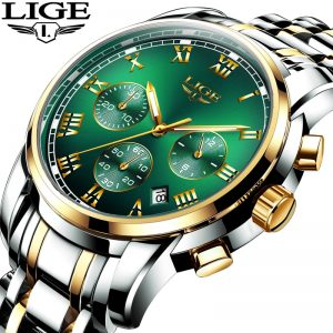 LIGE Top Brand Luxury 30m Waterproof Date Clock Male Sports Watch Men