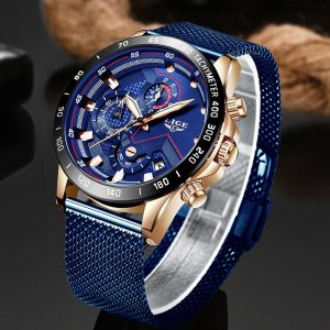 LIGE Fashion Men's Watches Top Brand Luxury Wristwatch