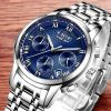 LIGE Luxury Chronograph Business Quartz Watch Men 11690
