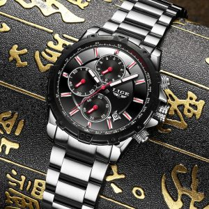 LIGE Luxury Business Quartz Stainless Steel Casual Waterproof Sport Watch Man